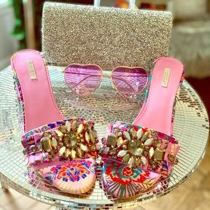 Embellished Carvela Kurt Geiger slip-on sandals